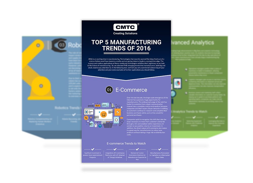Top Five Manufacturing Trends of 2016