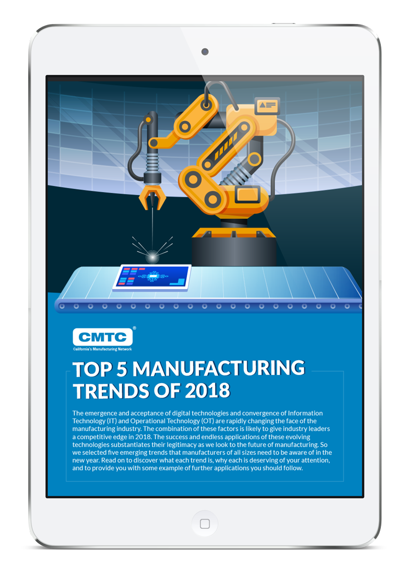 Top 5 Manufacturing Trends of 2018